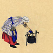 Fort Toulouse Cooking Woman Art Print