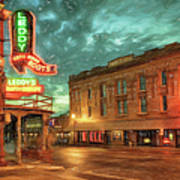 Fort Worth Impressions Main And Exchange Art Print