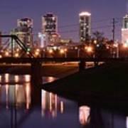 Fort Worth Panorama Art Print