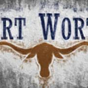 Fort Worth Texas Flag Art Print