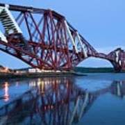 Forth Railway Bridge In Edinburg Scotland  Art Print