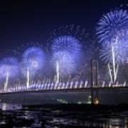 Forth Road Bridge Fireworks Art Print