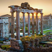 Forum Romanum Panorama Art Print