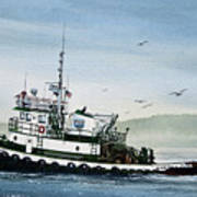 Foss Tugboat Martha Foss Art Print by James Williamson