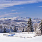 Foster Bridge Winter Panorama Art Print