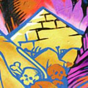 Found Graffiti 28 Cat Art Print by Jera Sky