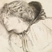 Found - Study For The Head Of The Girl Art Print