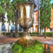 Fountain At National Roman Museum Art Print