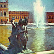 Fountain At Versailles Art Print