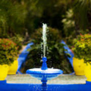 Fountain In Jardin Majorelle Morocco Art Print