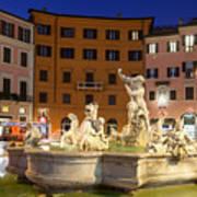 Fountain In Rome Art Print