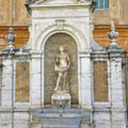 Fountain In The Vatican City  Art Print