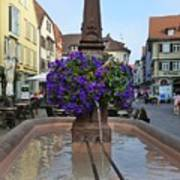 Fountain In Wertheim, Germany Art Print