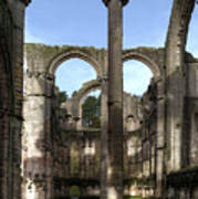 Fountains Abbey 4 Art Print