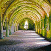 Fountains Abbey, Vaulted Chamber Art Print