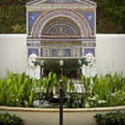 Fountains At The Getty Villa Art Print