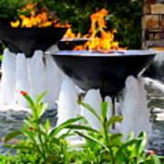 Fountains Of Fire Art Print