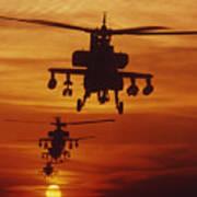 Four Ah-64 Apache Anti-armor Art Print