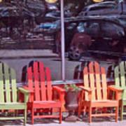 Four Chairs Art Print