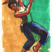 Four Colors Movement Art Print