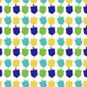 Four Dreidels Pattern- Art By Linda Woods Art Print