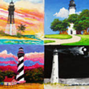 Four Florida Lighthouses Art Print