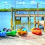 Four Kayaks Art Print