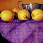 Four Lemons Art Print