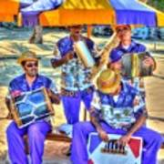Four Man Band Art Print by Michael Garyet