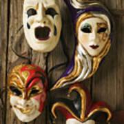 Four Masks Art Print