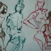 Four Nude Figures Art Print