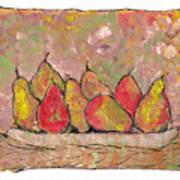 Four Pair Of Pears Art Print