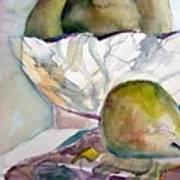 Four Pears Art Print