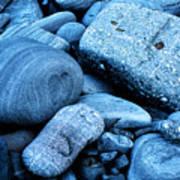 Four Rocks In Blue Art Print