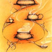 Four Soups  Art Print