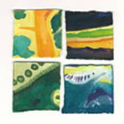 Four Squares Fish Tail Art Print