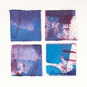 Four Squares Turquoise Flow Art Print