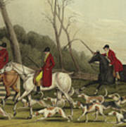 Fox Hunting Going Into Cover Art Print
