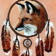 Fox Medicine Wheel Art Print by Brandy Woods