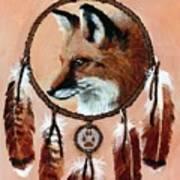 Fox Medicine Wheel Art Print