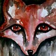 Fox Shadow Magic Art Print