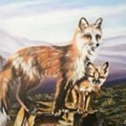 Foxes   Fundamental Foresight Foundation  Art Print