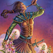 Foxglove - Summon Your Courage Art Print