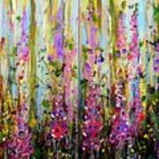 Foxgloves Large Painting Art Print