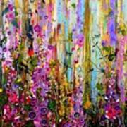Foxgloves Panel One Art Print