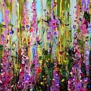 Foxgloves Panel Two Art Print