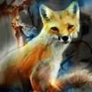 Foxy Baby Art Print