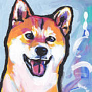 Foxy Shiba Art Print