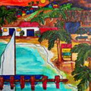 Foxy's At Jost Van Dyke Art Print