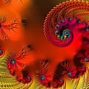 Fractal Art - Breath Of The Dragon Art Print